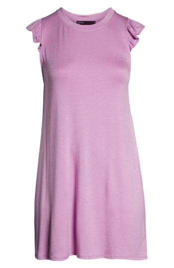 62c71707fa47fc Gibson x Hi Sugarplum! Laguna Soft Jersey Ruffle Back T-Shirt Dress ...