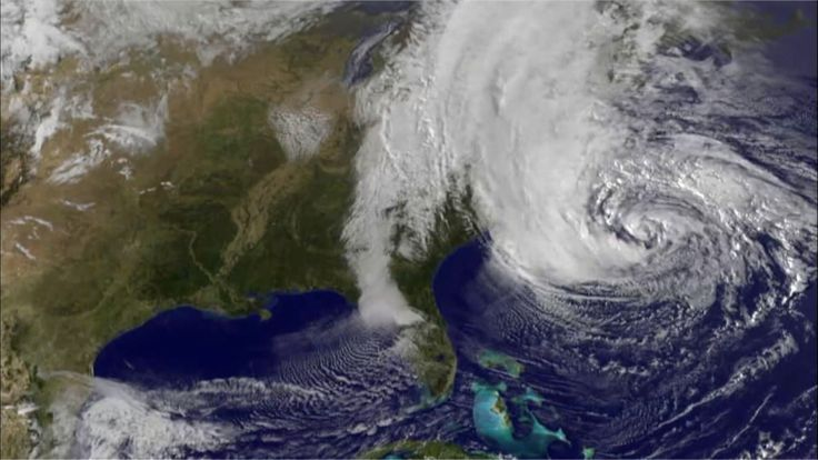 """In this video excerpt from NOVA: """"Inside the Megastorm,"""" learn how Earth's warming climate may have contributed to Hurricane Sandy's devastating impact. Hurricane Sandy was an extremely large storm that followed an unusual path, and its impacts were enhanced by climate change. Climate scientists Radley Horton and Adam Sobel explain how warming temperatures in the Arctic may have shaped a blocking pattern in the jet stream (causing the hurricane to turn toward the United States) and how ..."""