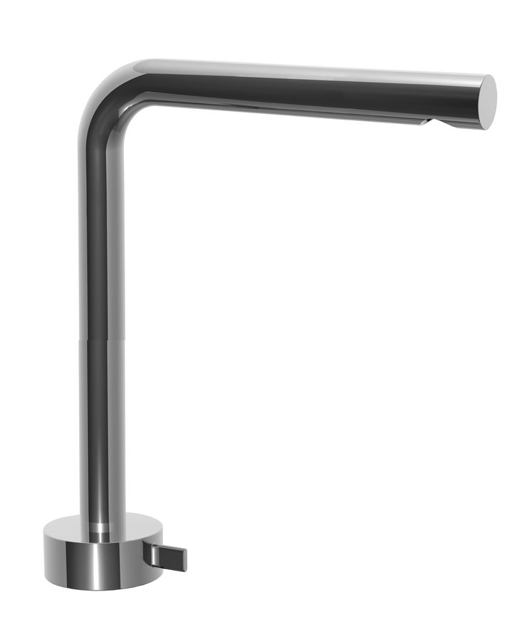 Single-hole high washbasin mixer with extended spout - FANTINI Aboutwater, Fukasawa