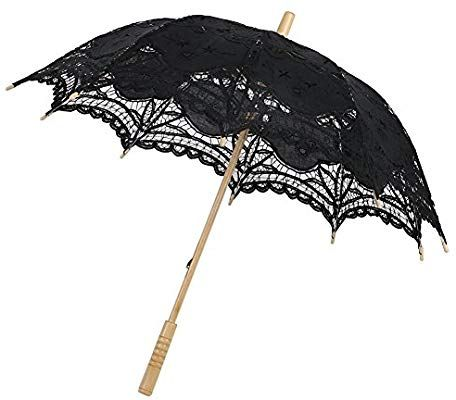62e3e5daad58 Amazon.com: ESHOO Vintage Cotton Lace Parasol Umbrellas for Bridal Wedding  Party Decoration Photo Props Lady Costume Accessory: Sports & Outdoors