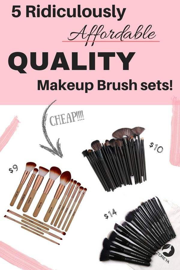 5 Best quality affordable makeup brush sets on amazon