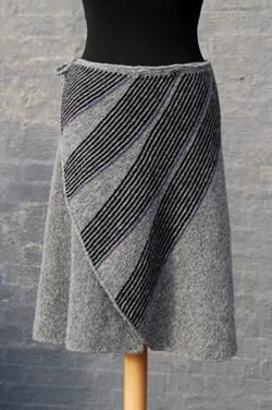 knitted skirt diagonal tie
