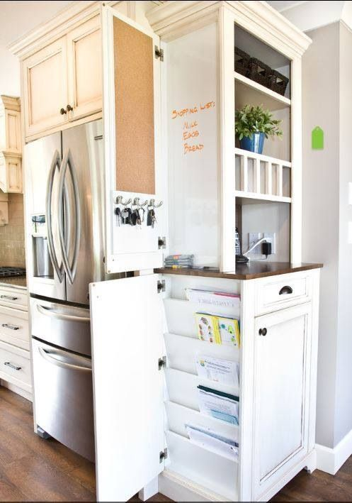 """many """"stock / custom"""" order cabinet companies allow you to order a reduced depth cabinet to do this idea"""
