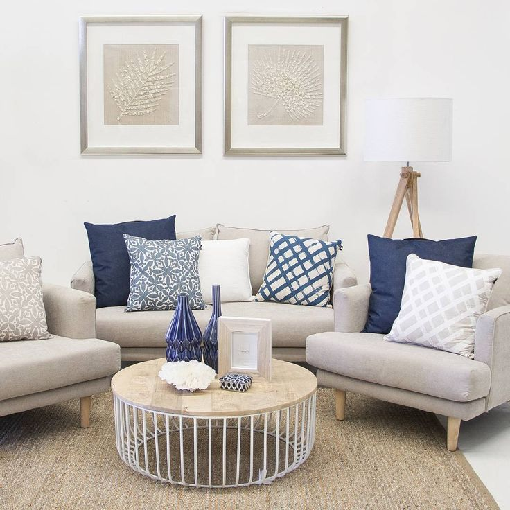 """""""Feeling a little hamptons inspired this week in the showroom // shop with us - @designerboys framed art $878 each, havana sofas from $1134, navy cushions…"""""""