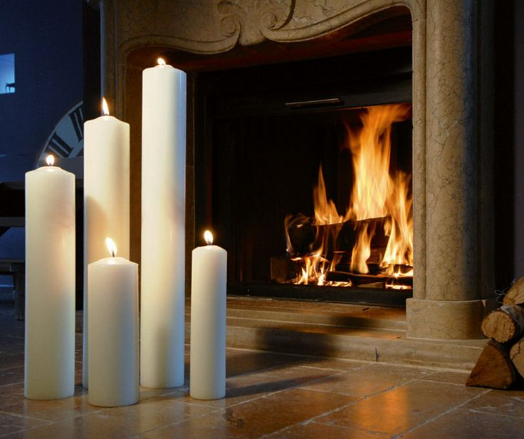 Enjoy a cosy evening by the fireplace. A homey and unique evening made by those extra-large candles.