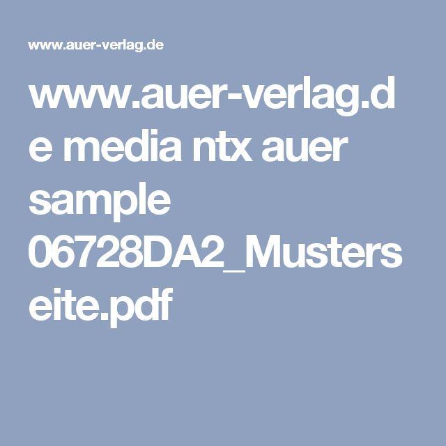www.auer-verlag.de media ntx auer sample 06728DA2_Musterseite.pdf