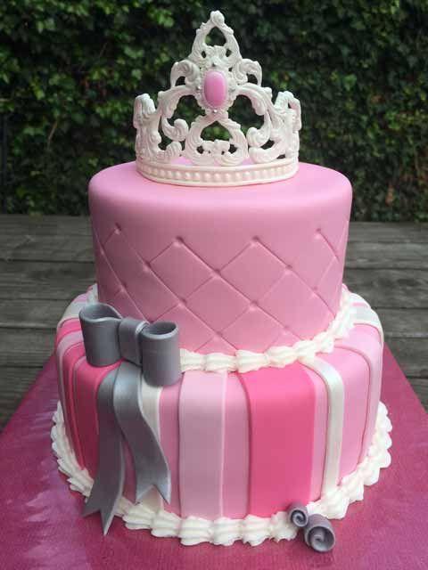 Roze prinsessentaart