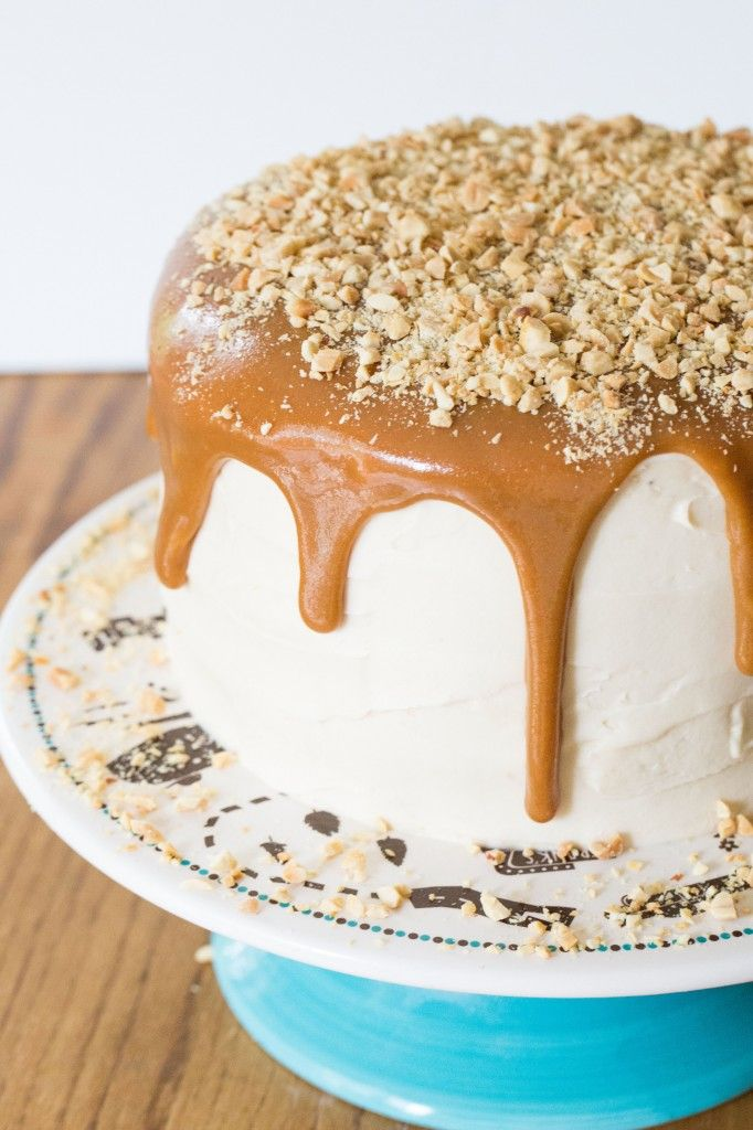 Salted Nut Roll Cake Recipe ~ This cake is the perfect combination of salty, sweet, and pure decadence.