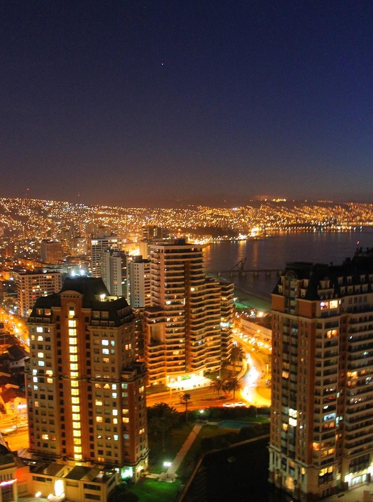Viña del Mar de noche #VinadelMar #Chile #Night #Lights