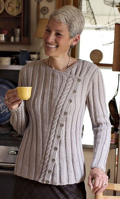 Ravelry: Classic Slant Cardigan pattern by Deborah Newton