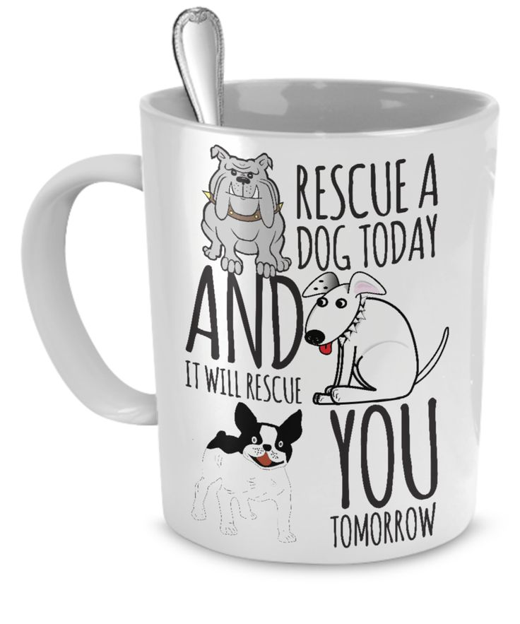 Good Gifts For Dog Lovers Part - 28: Rescue A Dog Today Mug. Gifts For Dog LoversGifts ...