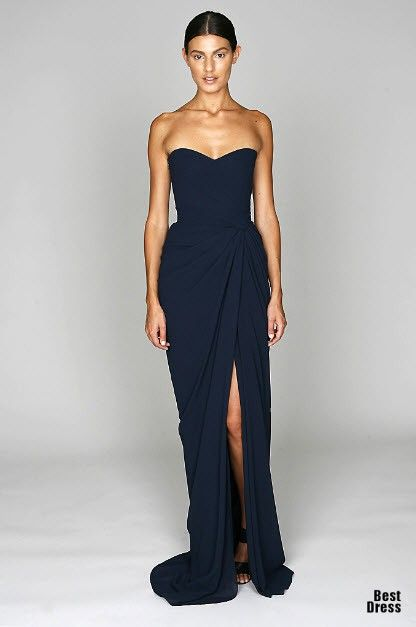 Like this dress by Monique Lhuillier!! Simple and neat!! Would look great in another colour too!!