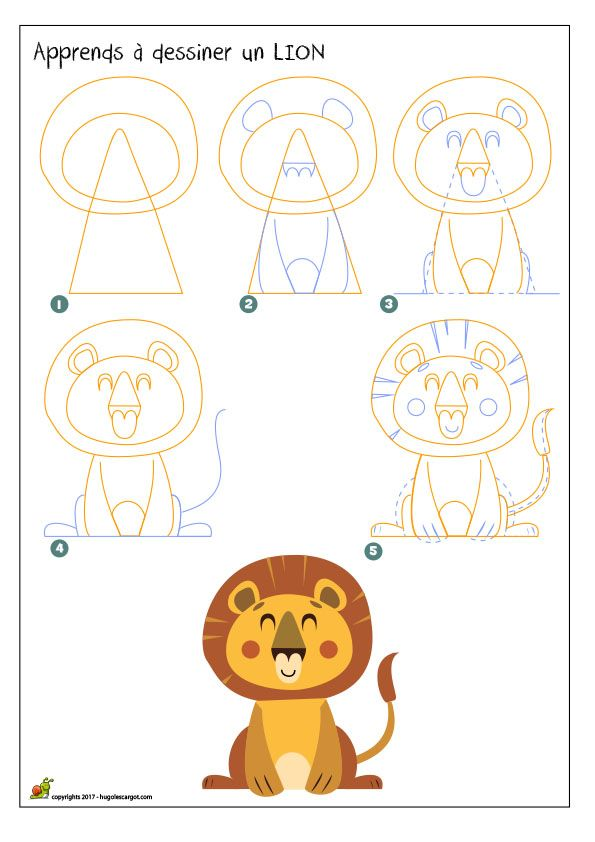 25 b sta id erna om dessiner un lion p pinterest dessin lion facile comment dessiner un - Lion dessin facile ...