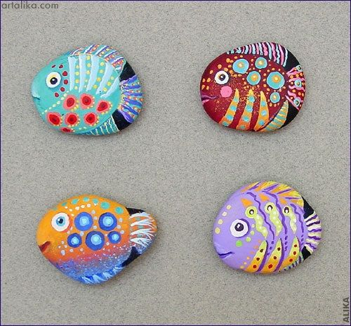 Paint Rocks to Look like Turtles & Fish - Crafty Morning