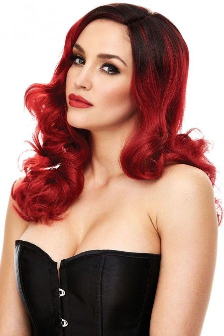 Candice Wig in Red with Black