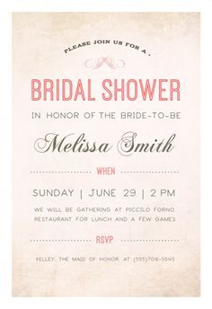 """""""Here Comes The Bride""""  printable invitation template. Customize, add text and photos. Print or download for free!"""