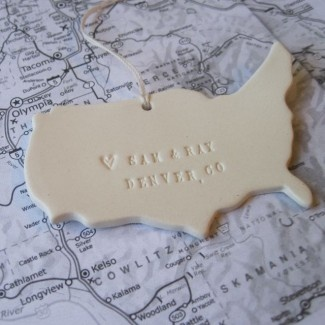 Where We Met... custom map ornament by Paloma's Nest