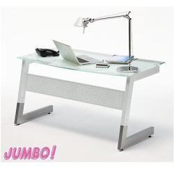 Pc Computertisch Schreibtisch Büro Claro Glas Metall Neu