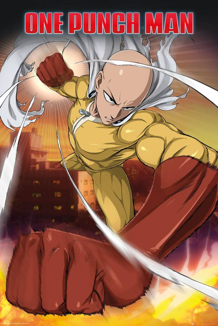 #One Punch Man Saitama Maxi Poster #One Punch Man Saitama Maxi Poster (Barcode EAN=5028486359363)