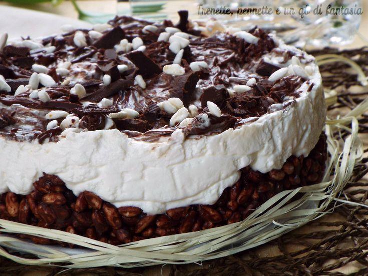 Cheesecake riso soffiato con crema al latte