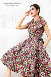 batik amarillis's hey day wrap dress