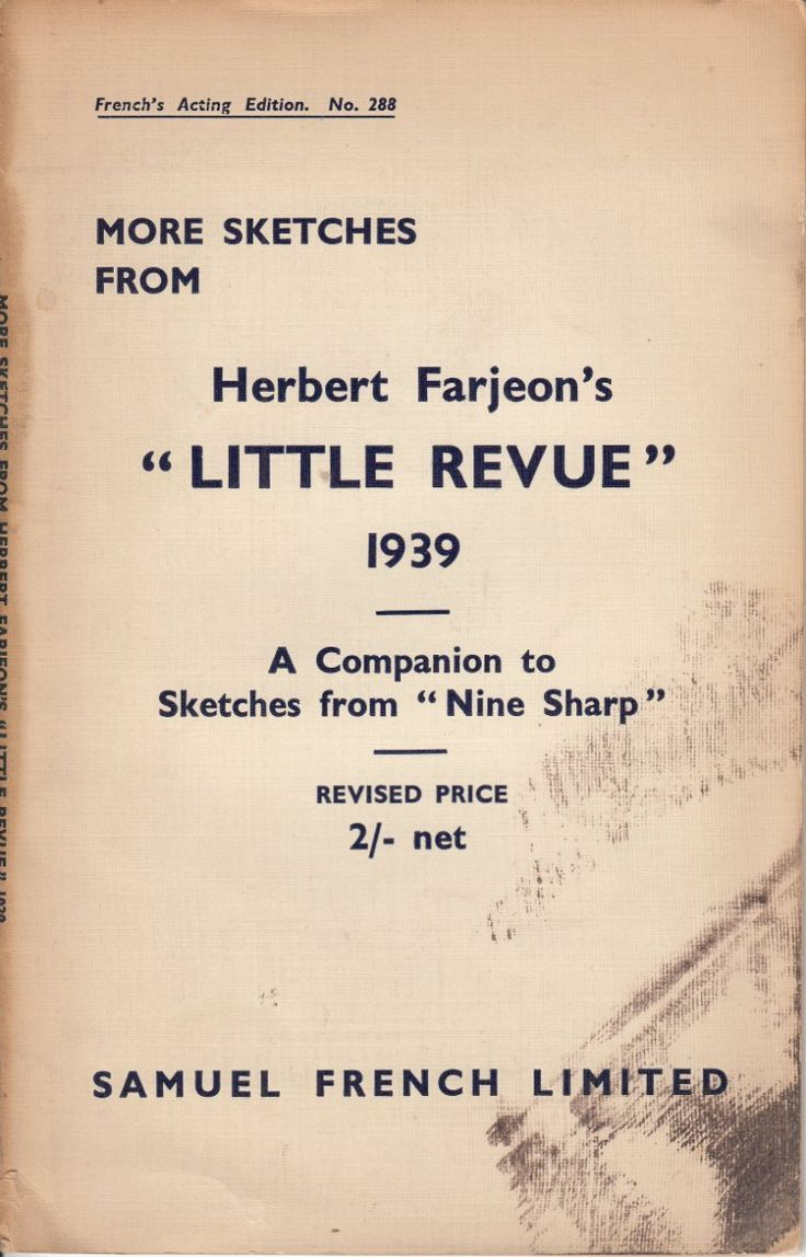 "More Sketches from Herbert Farjeon's ""Little Revue"" 1939"