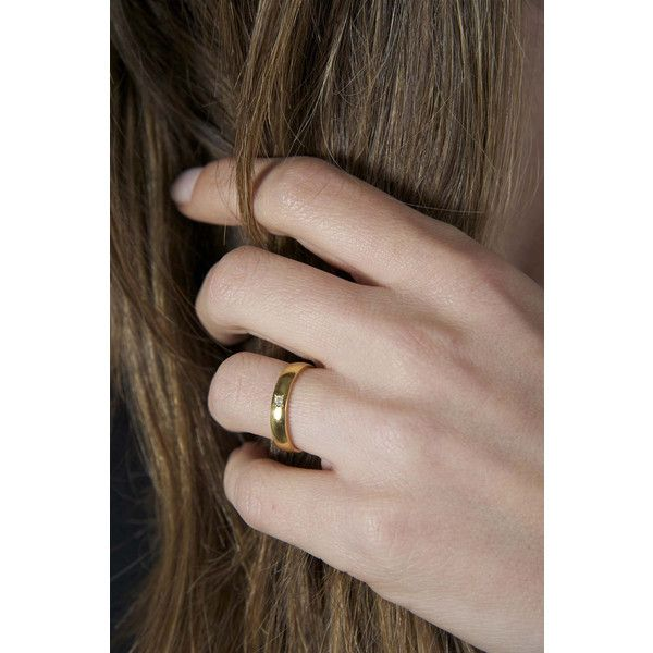 Diamant Ehering Solid Gold Diamond Wedding Ring 18k Gelb Gold VS um... (€825) via Polyvore featuring jewelry, rings, gold diamond rings, yellow gold diamond rings, 18 karat gold ring, gold jewellery and diamond wedding rings