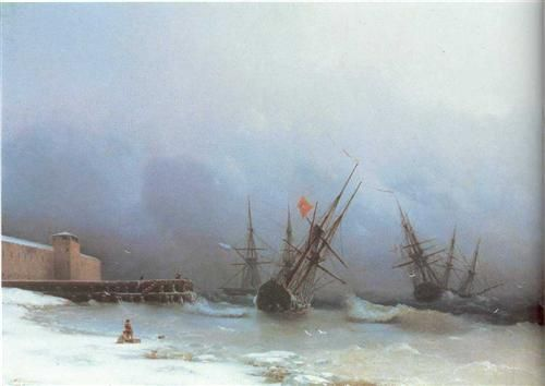 Warning of storm - Ivan Aivazovsky - Completion Date: 1851