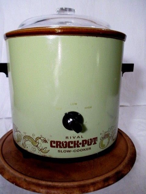 #Rival #crockpot slow cooker vintage 70's avocado green #glass lid 3.5 quarts 310,  View more on the LINK: 	http://www.zeppy.io/product/gb/2/252676940269/