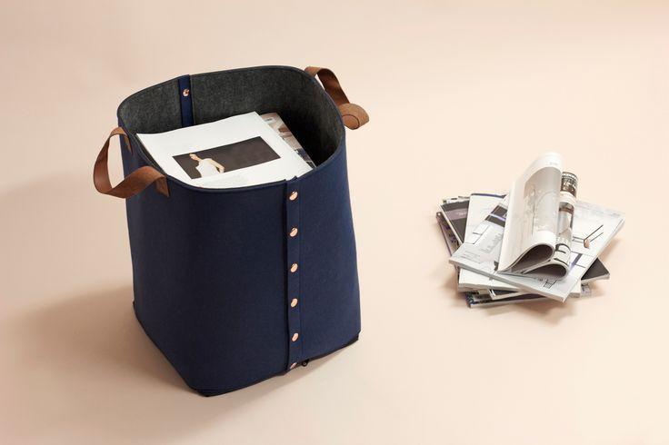 Eco-friendly felt storage basket. Norwegian design from snedesign.com. Designer Christine E. Sveen