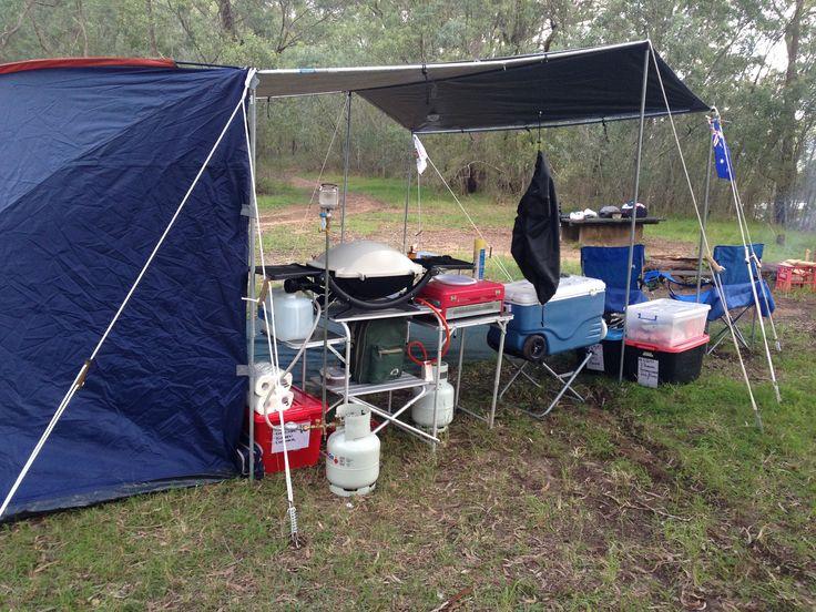 The EZI KIT tarpaulin shelter from CampKings Australia takes 1 person less than 20 Minutes to set up and it looks awesome too! #CampKingsCrew at GentlemansHalt #campground on our #GTFO #GetTheFamilyOutdoors #adventure #tarpaulin #EZIKIT #TarPOLEInRange #GentlemansHalt #Marramarra