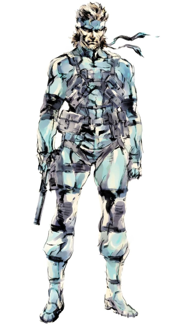 Solid Snake | Solid Snake Concept Art (Metal Gear Solid 2) by Yoji Shinkawa