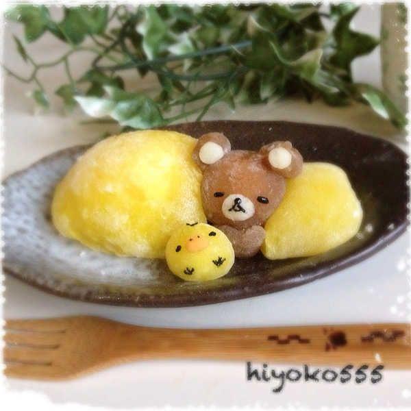 This is sooo cute! I can't stand it! Banana custard DAIFUKU