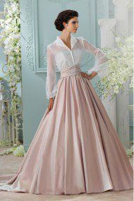 Youdesign Organza Skirt Shirt In Peach Colour
