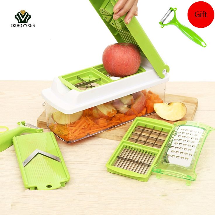 12 Pcs/1set Multifunctional  Vegetable Fruit Stainless Fruit Slicers  Potatoes Slicer Dicer Chopper Kitchen Tools Accessories #Affiliate