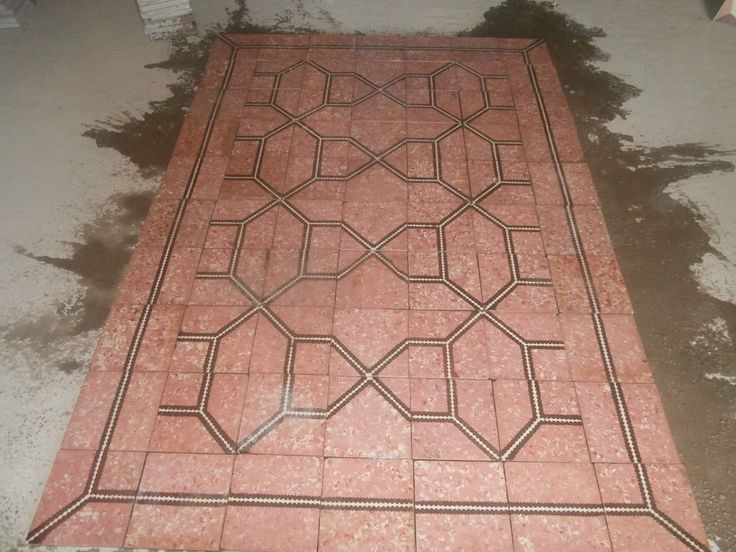 Antique encaustic tiles - panel  230 tiles - 99sq ft of surface