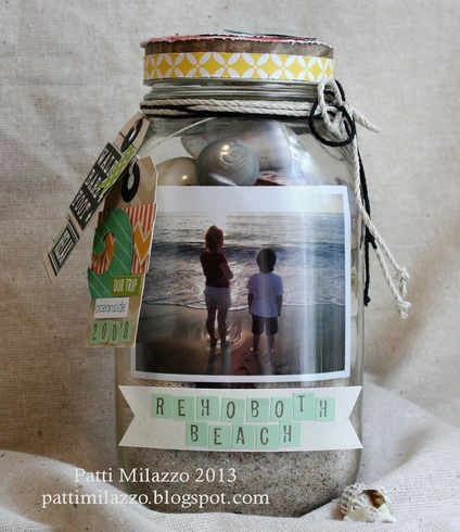 I absolutely HAVE to make this....I mean, it's not like I don't have tons of mason jars......or scrapbook stuff......or pictures lol!!