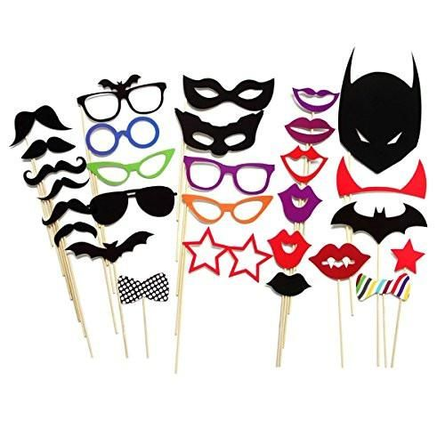 Listing is for (1) order of30 Piece Party Masks Wedding Photo Booth Reception Props on a Stick Decoration Favors You will receive the following: 100% brand ne