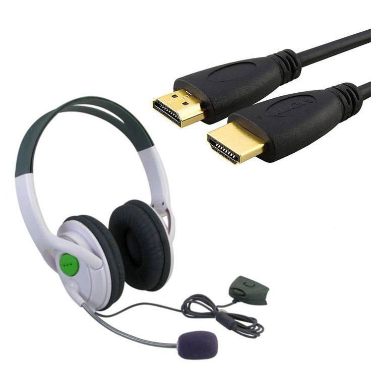 Insten 6-foot Hdmi HD Cable/ Headset for Microsoft Xbox 360 Slim