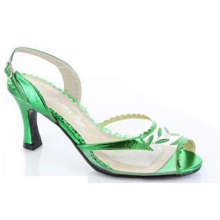 BP304-BARNETT Women Heels Peep Toe Sling Back - Green