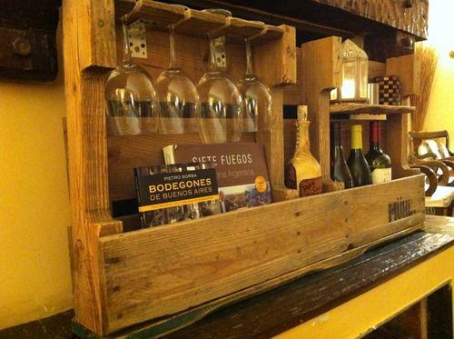 Estante para vinos muebles con pallets pinterest - Estantes para vinos ...