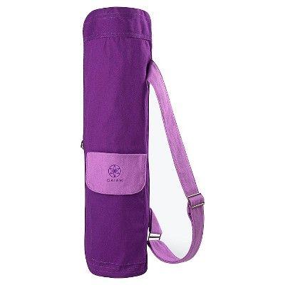Gaiam 2-Color Sparkling Grape Cargo Yoga Mat Bag : Target