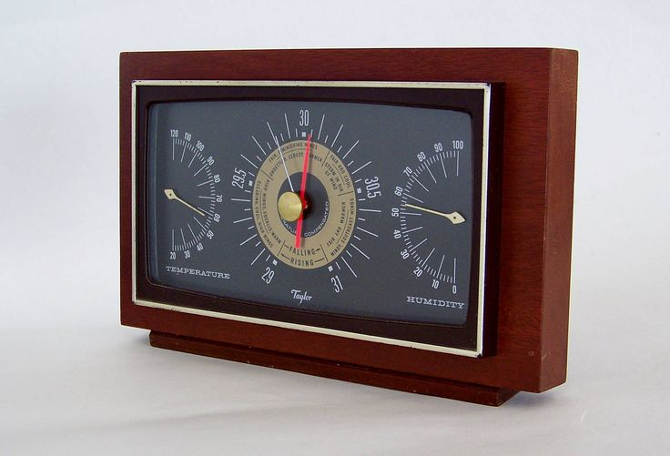 Mahogany Desktop Weather Station by Taylor Instruments by TreasureBandits on Etsy