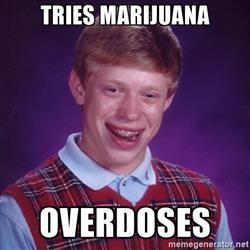 Bad Luck Brian - Tries marijuana Overdoses