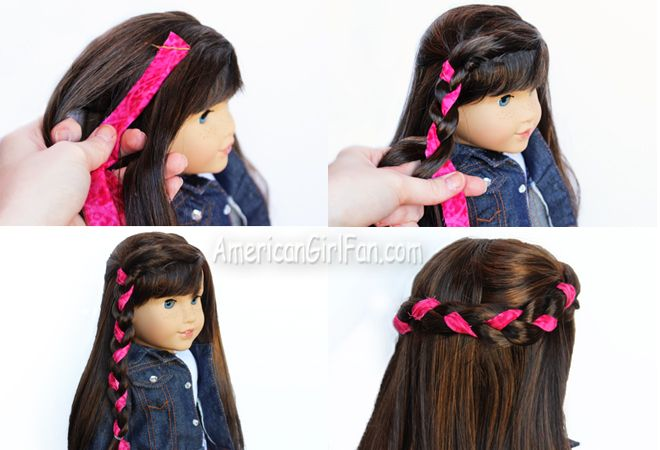 How To Make A Fabric Braid (via AmericanGirlFan.Com click through for tutorial)