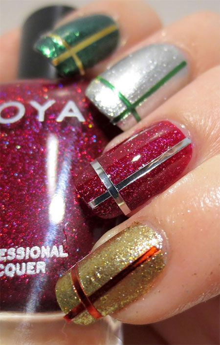 The 25 best christmas present nail art ideas on pinterest 12 easy christmas present nail art designs ideas trends stickers 2014 xmas prinsesfo Choice Image