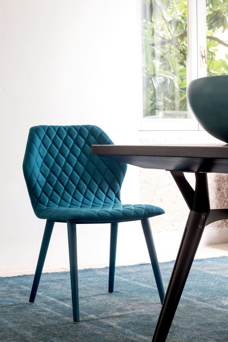 Ava quilted modern dining chair by bross modern dining for Modern dining chairs pinterest