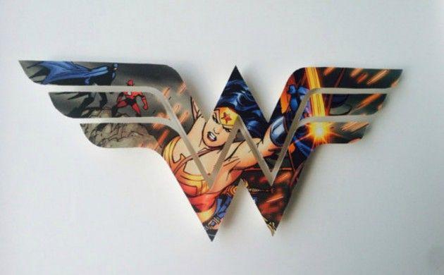 BabyZone: 18 Ideas for a Comic Book-Themed Nursery   Custom Superhero Icon Decoration