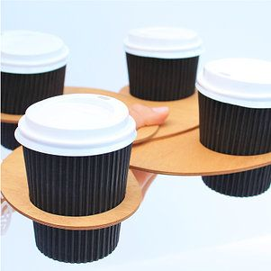 Coffee thumb coffee holders - new product by Brisbane designers