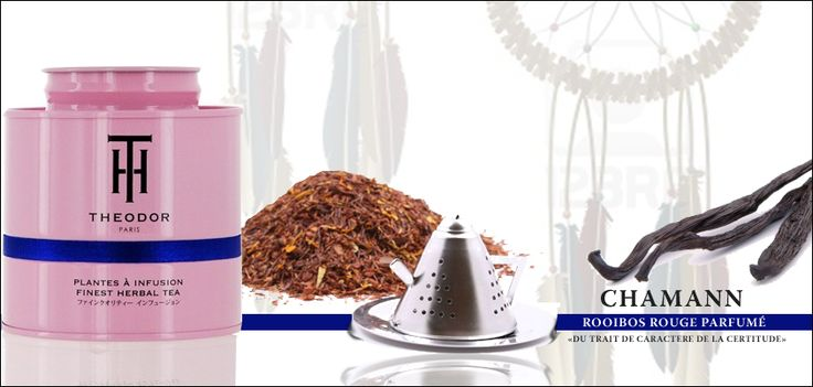Chamann rooibos rouge aromatisé vanille de Maison Theodor
